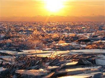 Lake Michigan Glass Ice